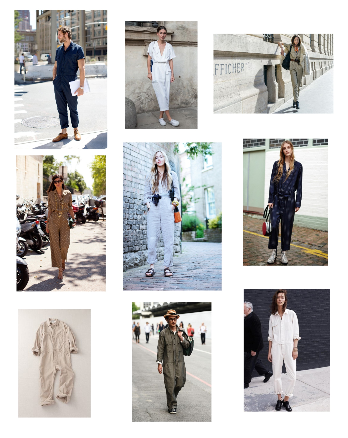 Street style. Boiler suits & Jumpsuit.