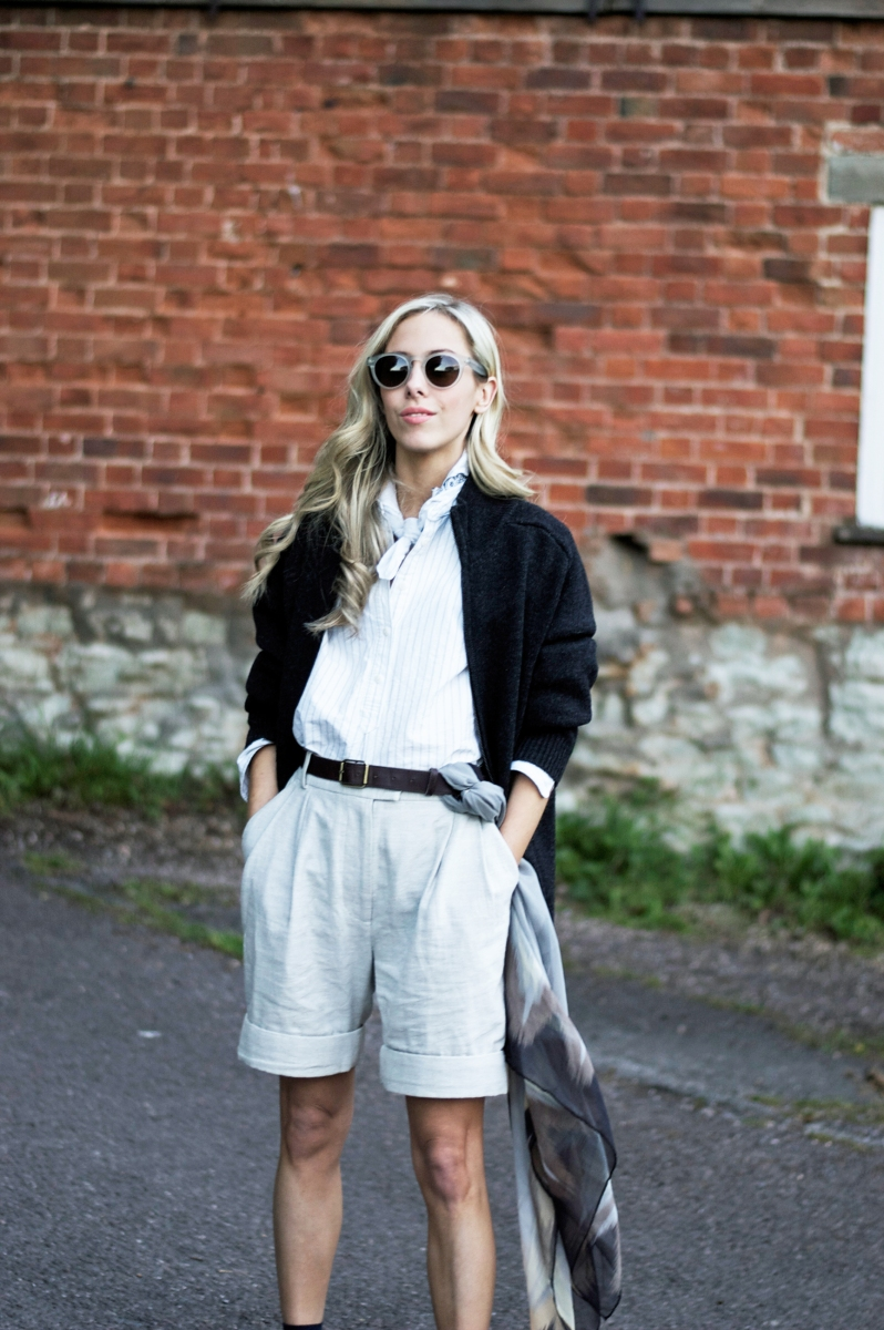 Androgynous summer style.