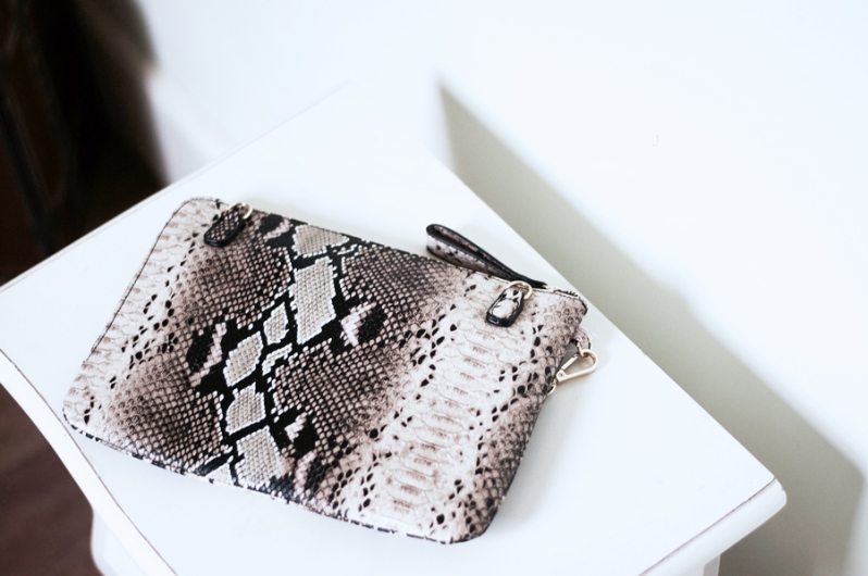 Accessory Time! Topshop Snake Print Bag