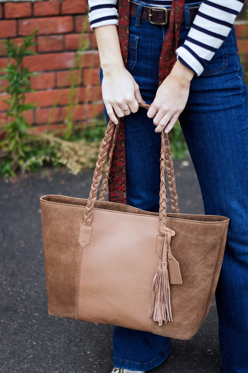 Last But Not Least! Look 3 - Suede Bag