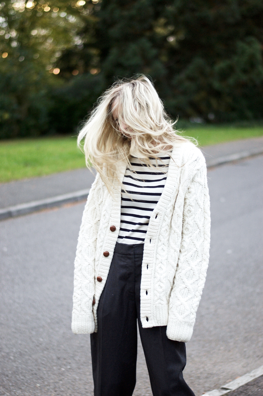 Cable-knit Cardigan Still going Strong!