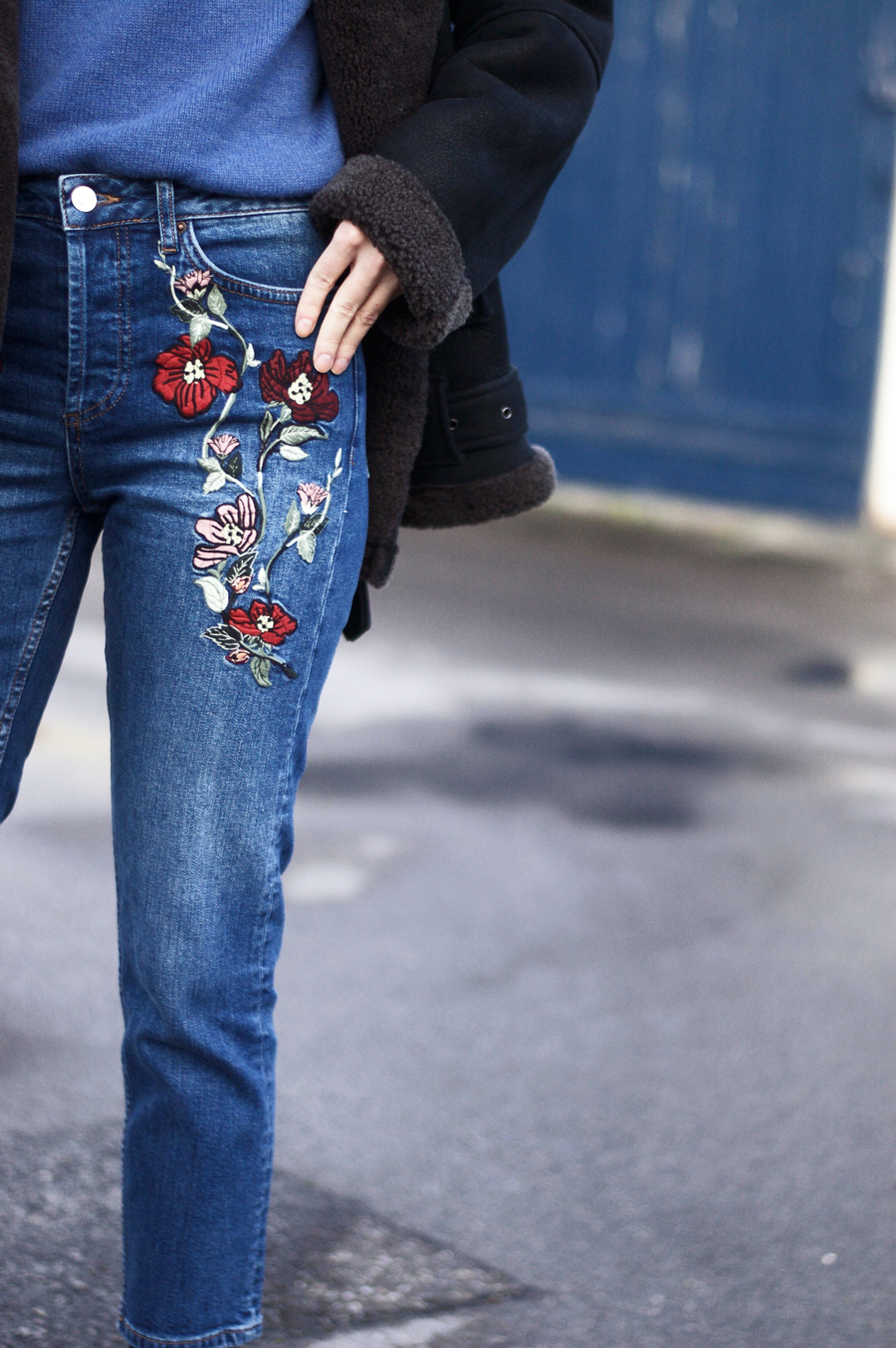 Puppy Eyes & A Colourful Touch to Denim