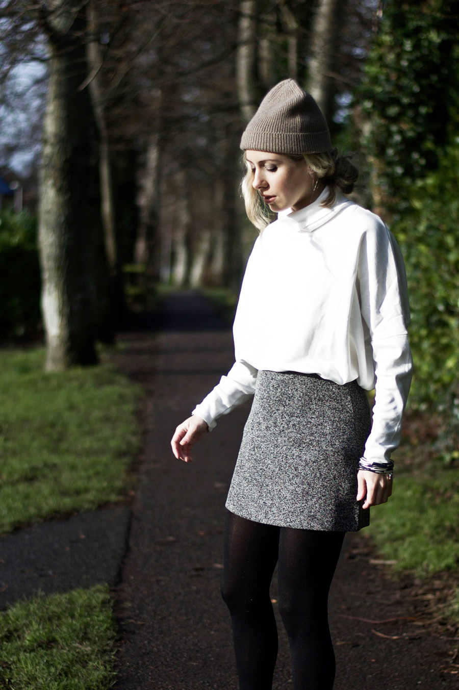 Today's Outfit: The Grey Mini Skirt
