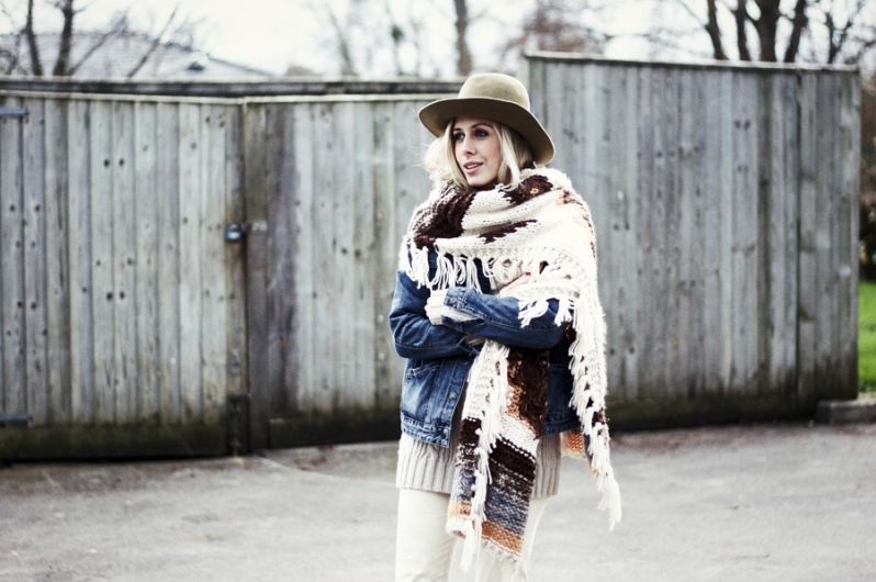 Chunky Scarf: The Unintended Statement Piece