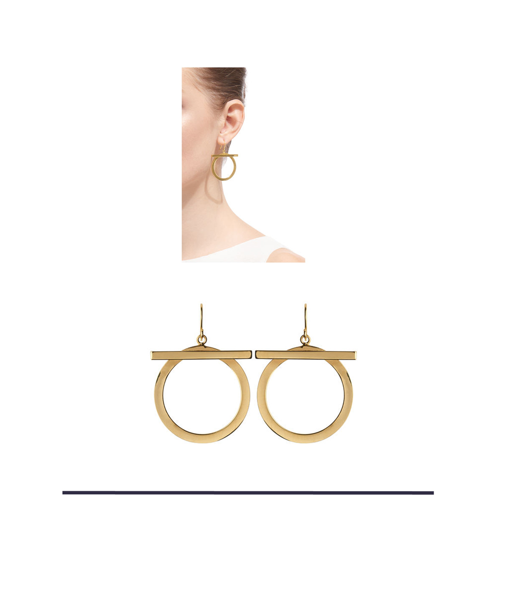 The Alternative Gold Hoop Earrings