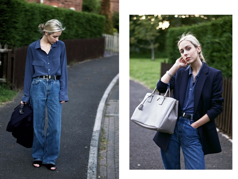 Blue On Blue Outfit: Almost One Year Ago