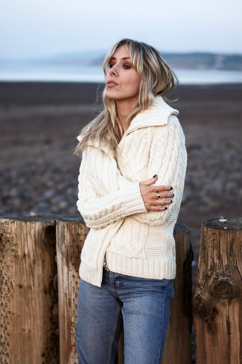 The Zip Up Aran Sweater